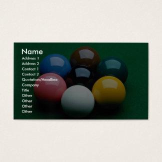 Snooker equipment business card