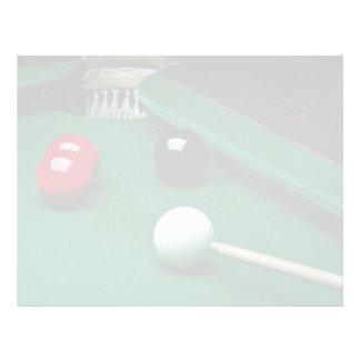 Snooker equipment letterhead template