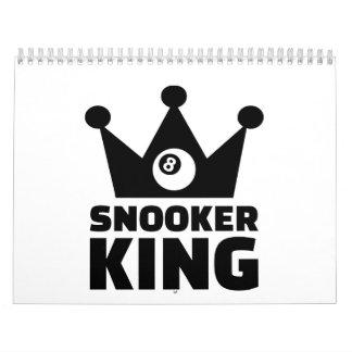 Snooker king crown calendar
