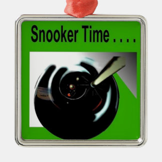 Snooker Lucky Metal Ornament
