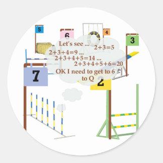 Snooker Math Classic Round Sticker