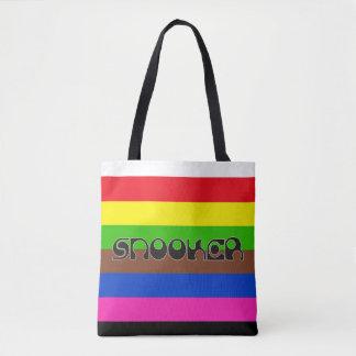 SNOOKER modern font & colored stripes Tote Bag