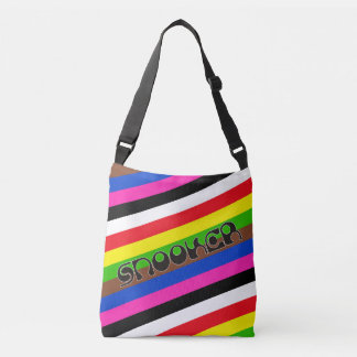 SNOOKER modern font & colored stripes + your ideas Crossbody Bag