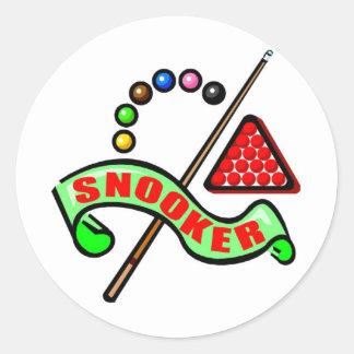 Snooker Pool Classic Round Sticker