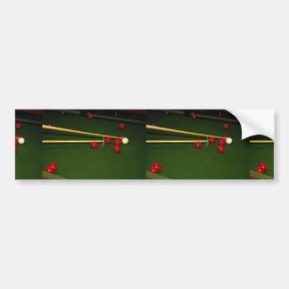 Snooker shot car bumper sticker