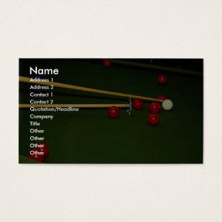 Snooker shot business card