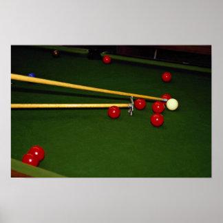 Snooker shot poster