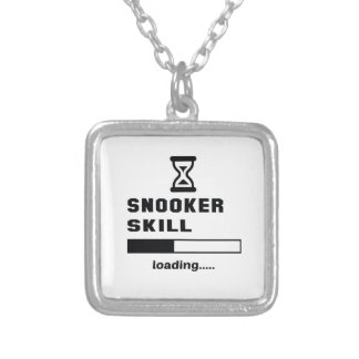 Snooker skill Loading...... Silver Plated Necklace