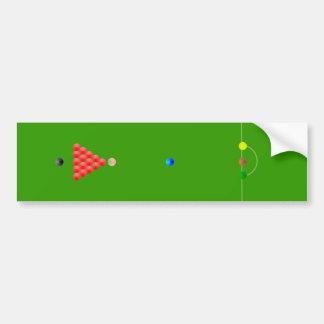 Snooker Table Bumper Sticker