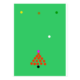snooker the game postcard