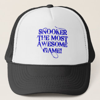 snooker the most awesome game! trucker hat