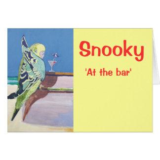 Snooky: 'En el bar Tarjeta De Felicitación