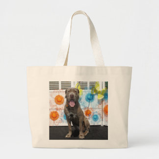 Snoop - Neopolitan Mastiff -3 Jumbo Tote Bag