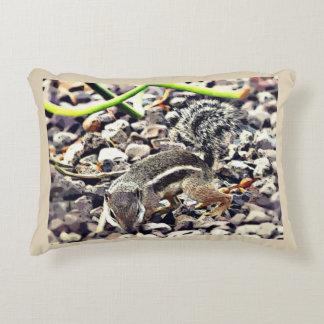 Snooping Ground Squirrel Throw Pillow