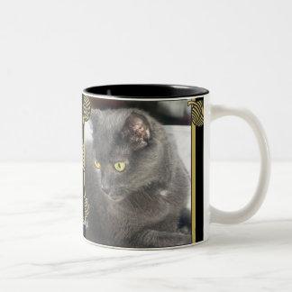 Snoops Cat Deep Thought Yarn Golds Mug