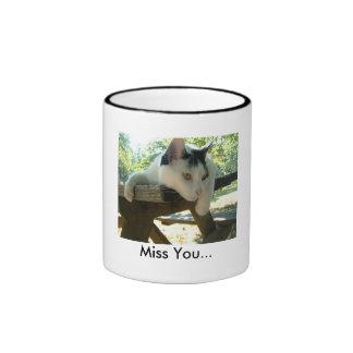 Snoopy11, Miss You... Ringer Coffee Mug
