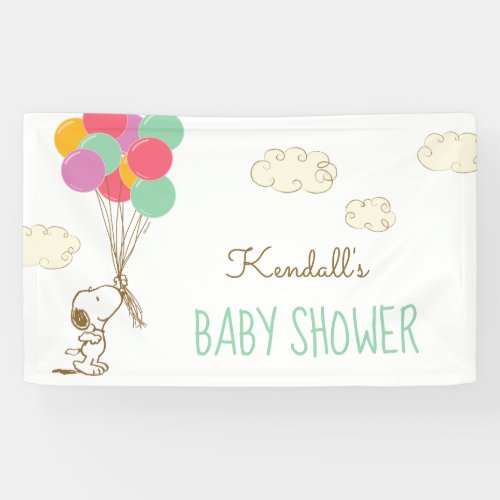 Snoopy and Balloons Baby Shower Banner