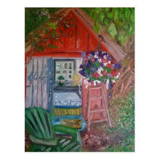 snoopy house postcard