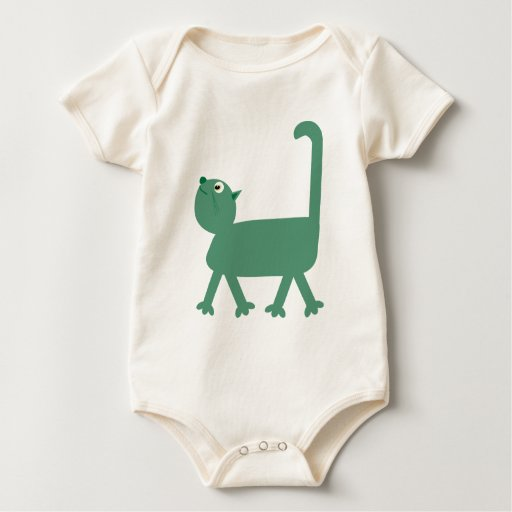 Snooty cartoon cat infant creeper all in one