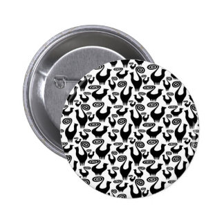 SNOOTY CAT SCATTER PINBACK BUTTON