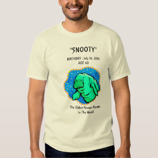 """Snooty"" Manatee 63rd Birthday Tee Shirt"
