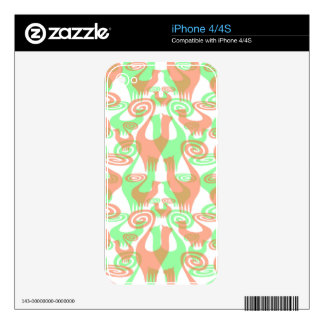 SNOOTY TRANSPARENT CATS iPhone 4S SKIN