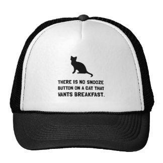 Snooze Button Cat Trucker Hat