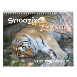 Snoozin' at the Zoo 12-month Calendar