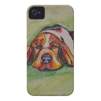 Snoozing Bassett Hound iPhone 4 Case-Mate Case