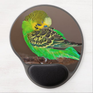 Snoozing Budgie Gel Mousemat Gel Mouse Pad