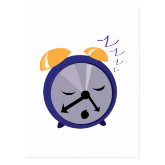 Snoozing Clock Postcard