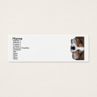 Snoozing Dog Bookmark Business Card