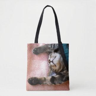 Snoozing Kitten Tote Bag