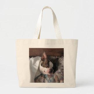 Snoozing Large Tote Bag