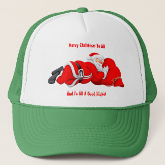 Snoozing Santa Trucker Hat