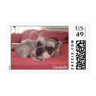 Snoozing Schnauzer Postage Stamps