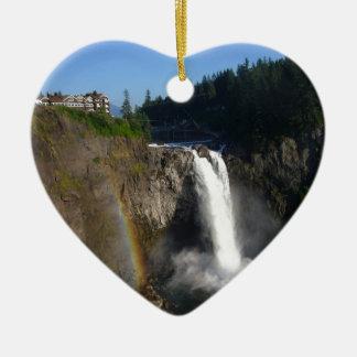 Snoqualmie baja Washington Adorno Navideño De Cerámica En Forma De Corazón
