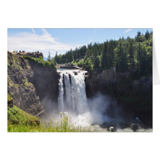 Snoqualmie Fall in Washington State Card