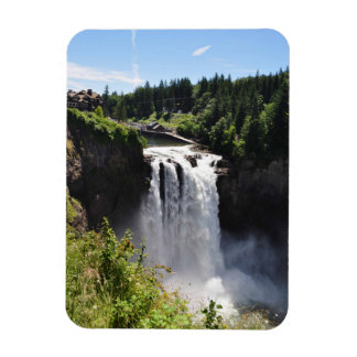 Snoqualmie Fall in Washington State Rectangular Photo Magnet