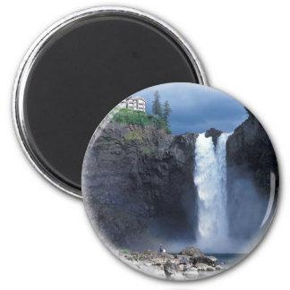 Snoqualmie falls 2 inch round magnet