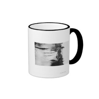 Snoqualmie Falls and Lodge, Washington Photograp Ringer Mug