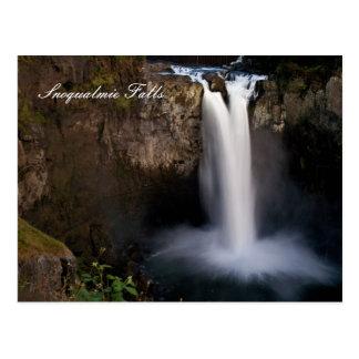 Snoqualmie Falls at night postcard