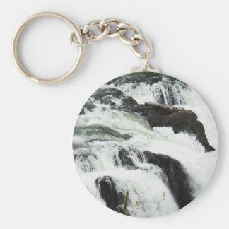 Snoqualmie Falls Basic Round Button Keychain