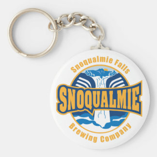 Snoqualmie Falls Brewery logo button keychain