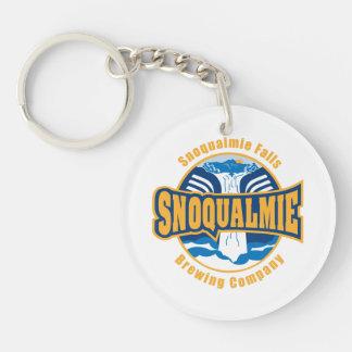 Snoqualmie Falls Brewery logo keychin Single-Sided Round Acrylic Keychain