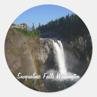 Snoqualmie Falls Classic Round Sticker
