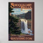Snoqualmie Falls (Day) Washington Travel Poster