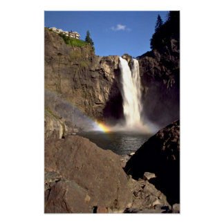 Snoqualmie Falls from below, Washington Poster