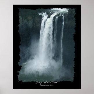 Snoqualmie Falls Nature Waterfall PhotoArt Poster