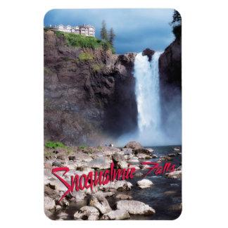 Snoqualmie falls rectangular photo magnet